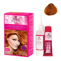 Vopsea Permanenta - Kallos Glow Long Lasting Cream Hair Colour Nuanta 843 Roscat Coral
