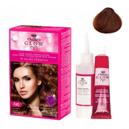 Vopsea Permanenta - Kallos Glow Long Lasting Cream Hair Colour Nuanta 740 Roscat Tizian