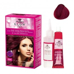 Vopsea Permanenta - Kallos Glow Long Lasting Cream Hair Colour Nuanta 566 Violet Roscat