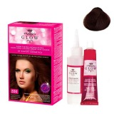 Vopsea Permanenta - Kallos Glow Long Lasting Cream Hair Colour Nuanta 550 Saten Mahon