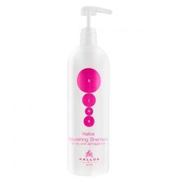 Sampon pentru Par Uscat si Deteriorat - Kallos KJMN Nourishing Shampoo for Dry and Damaged Hair 1000ml