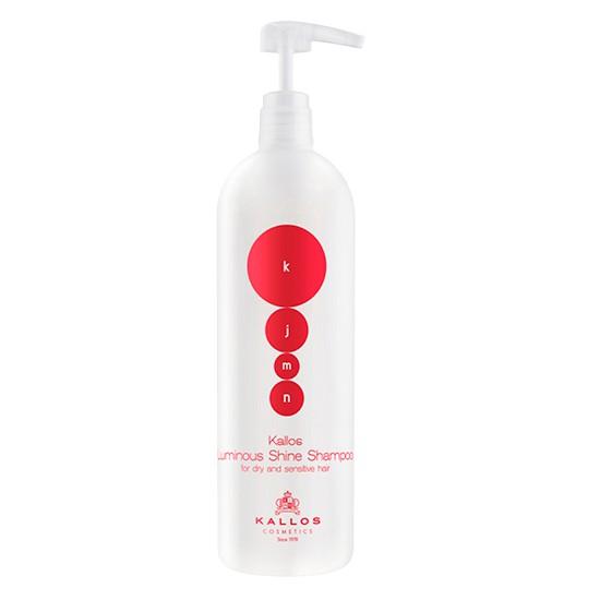 Sampon pentru Stralucire - Kallos KJMN Luminous Shine Shampoo for Dry and Sensitive Hair 1000ml imagine