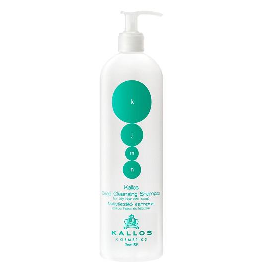 Sampon pentru Par Gras - Kallos KJMN Deep Cleansing Shampoo for Oily Hair and Scalp 500ml imagine