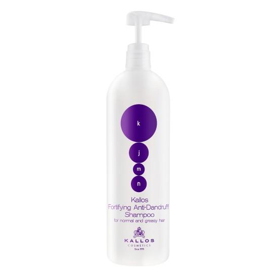Sampon Anti-Matreata - Kallos KJMN Fortifying Anti-Dandruff Shampoo for Normal and Greasy Hair 1000ml imagine produs