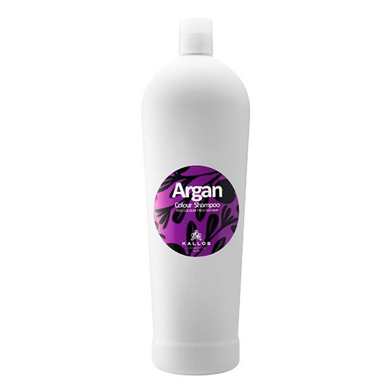 Sampon cu Aroma de Ulei de Argan pentru Par Vopsit - Kallos Argan Colour Shampoo 1000ml imagine