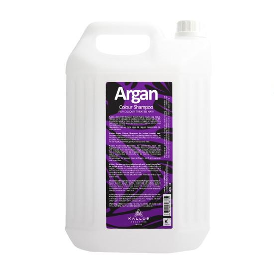 Sampon cu Aroma de Ulei de Argan pentru Par Vopsit - Kallos Argan Colour Shampoo 5000ml