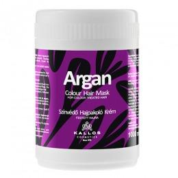 Masca cu Ulei de Argan pentru Par Vopsit - Kallos Argan Colour Hair Mask 1000ml