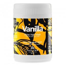 Masca cu Aroma de Vanilie pentru Stralucire - Kallos Vanilla Shine Hair Mask 1000ml