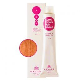 Vopsea Permanenta - Roscat Intensiv Coral - Kallos KJMN Cream Hair Colour nuanta 8.43 Light Copper Golden Blond 100ml
