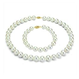 Set Business Perle Naturale cu Inchizatoare Aur Galben Filigranata - Cadouri si Perle