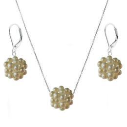 Set Bulgaras cu Perle Naturale Albe Calitatea AAA - Cadouri si Perle