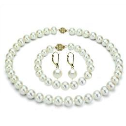 Set Business Colier, Bratara si Cercei Aur 14k si Perle Premium - Cadouri si Perle