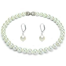 Set Business Argint 925 si Perle Albe Premium - Cadouri si Perle