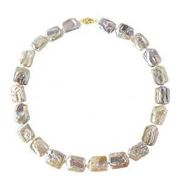 Colier Perle Naturale Multicolore Baroque cu Inchizatoare Aur - Cadouri si Perle
