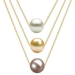 Colier Triplu Aur 14 karate si Perle Naturale Premium - Cadouri si Perle