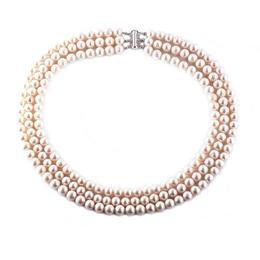 Colier Triplu Perle Naturale Albe - Cadouri si Perle