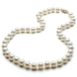 Colier Premium 9-10 mm Calitatea AAA cu Inchizatoare Aur - Cadouri si Perle