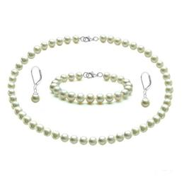 Set Argint cu Perle Naturale Albe, de Colectie - Cadouri si Perle