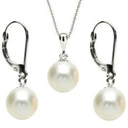 Set Aur Alb 14 k cu Perle Naturale Albe - Cadouri si Perle