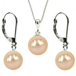 Set Aur Alb 14 k cu Perle Naturale Crem - Cadouri si Perle