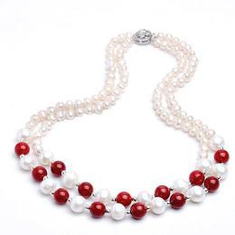 Colier Duo Coral Rosu - Cadouri si Perle