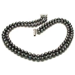 Colier Dublu Perle Naturale Negre - Cadouri si Perle