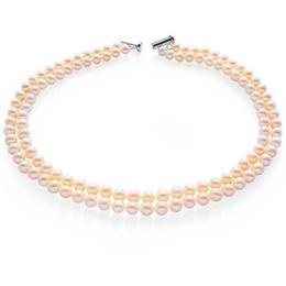 Colier Dublu Perle Naturale de Cultura Crem - Cadouri si Perle