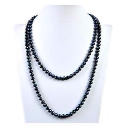 Colier Lung Perle Naturale Negre - Cadouri si Perle