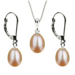 Set Aur Alb 14k si Perle Naturale Teardrops Crem - Cadouri si Perle
