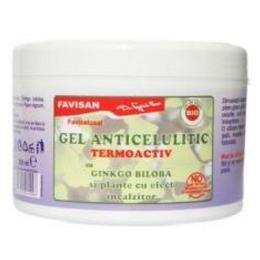 Gel Anticelulitic Termoactiv cu Ginkgo Biloba Favicelusal Favisan, 300ml