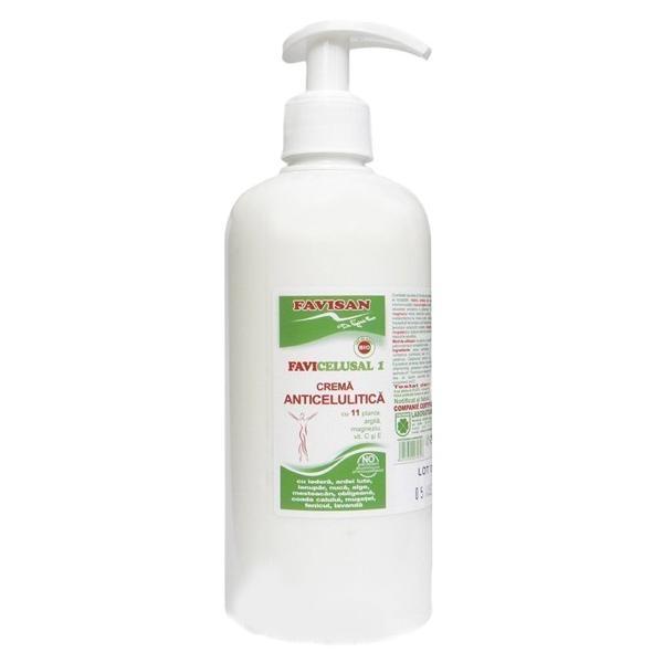 Crema Anticelulitica cu 11 Plante Favicelusal 1 Favisan, 500ml imagine produs
