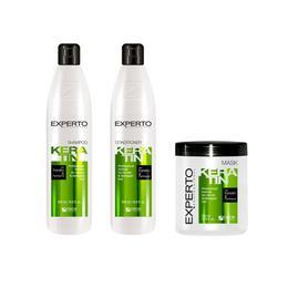 Set cadou cu keratina - regenerare in profunzime Experto Professional 3x500 ml cod.4113/4112/4111
