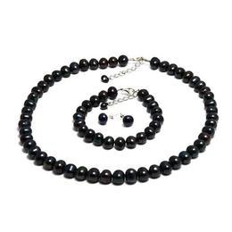 Set Clasic Perle Naturale de Cultura Negre - Cadouri si Perle