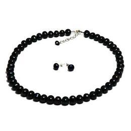 Set Clasic Perle Naturale de Cultura Negre 1 - Cadouri si Perle