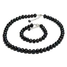 Set Clasic Perle Naturale de Cultura Negre 2 - Cadouri si Perle