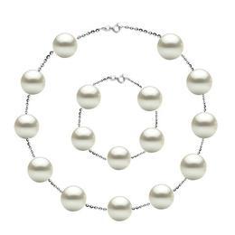 Set Office Argint 925 si Perle Naturale Premium de 10 mm - Cadouri si Perle