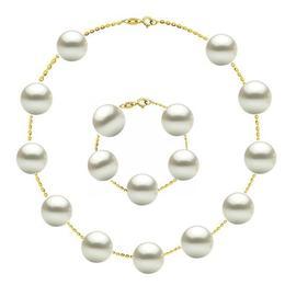 Set Office Aur 14 k si Perle Naturale Premium de 10 mm - Cadouri si Perle