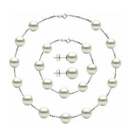 Set Office Argint 925 si Perle Naturale Premium de 8 mm - Cadouri si Perle