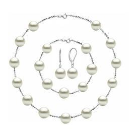 Set Office din Argint 925 si Perle Naturale Premium de 8 mm - Cadouri si Perle