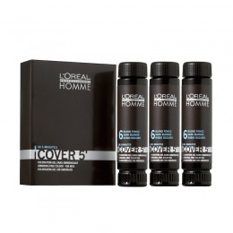 Gel Colorant pentru Barbati - Blond Inchis - L'Oreal Professionnel Homme Cover 5' Hair Color Gel, nuanta 6 Dark Blonde, 3 x 50ml