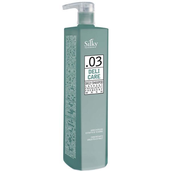 Sampon Natural pentru Utilizare Zilnica - Silky Deli Care Daily Shampoo Frequent Wash, 1000ml imagine