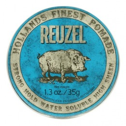 Pomada Fixare Puternica si Aspect Lucios - Reuzel Strong Hold Water Soluble Blue Pomade 35g