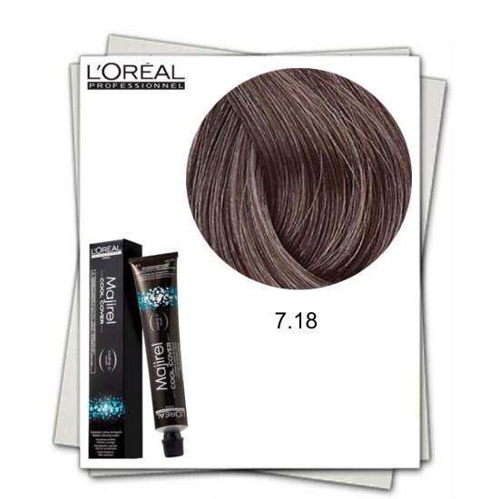 Vopsea Permanenta - L'Oreal Professionnel Majirel Cool Cover 7.18 poza