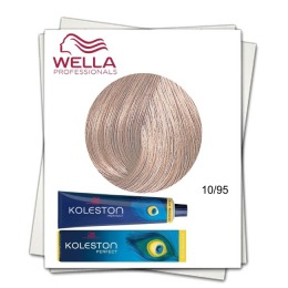 Vopsea Permanenta - Wella Professionals Koleston Perfect nuanta 10/95 blond luminos albastrui rosu