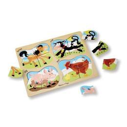 Imagine 4 In 1 Peg Puzzle, Farm, Puzzle Lemn 1, Ferma