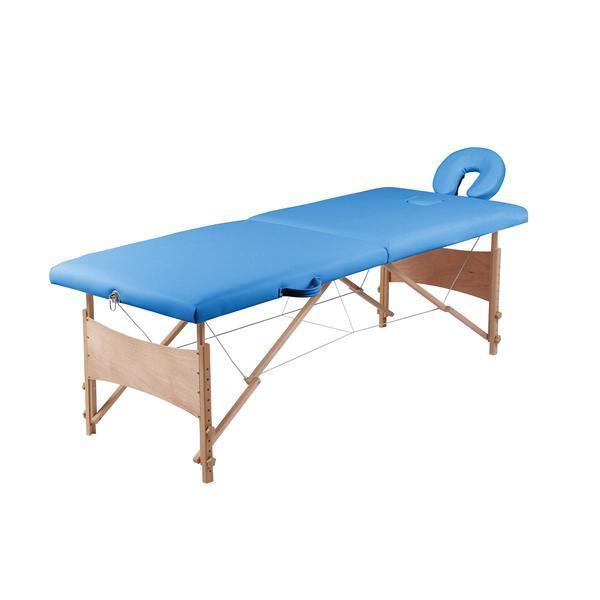 Masa de masaj pliabila, albastru - Unic Spot Ro esteto.ro